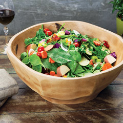 Hayes Mango Wood Salad Bowl