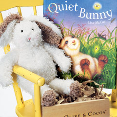 Quiet Bunny Book & Rabbit