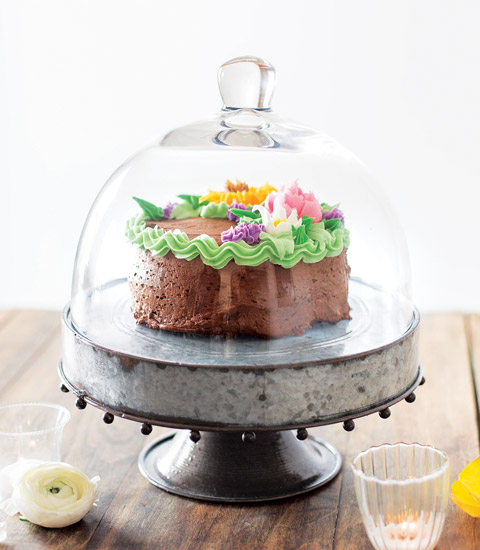 p tisserie cake stand cloche all gifts olive cocoa. Black Bedroom Furniture Sets. Home Design Ideas