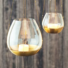 Gilded Brass Hanging Votives