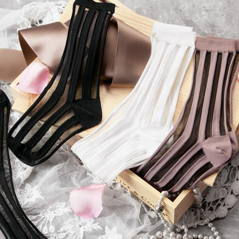 Striped Stiletto Sock Crate