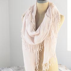 Blush Fringed Scarf