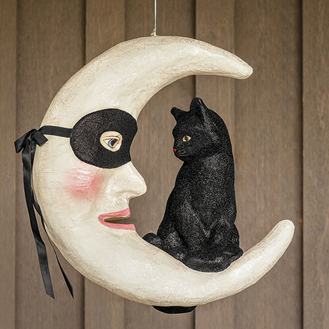Chat Noir Hanging Moon
