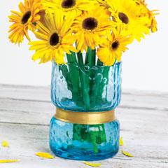 Azure & Brass Vase