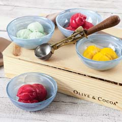 Swirled Ice Cream Bowls & Old Fashioned Scoop