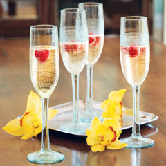 Artisan Textured Champagne Flutes