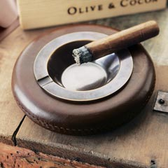 Authentic Leather Cigar Ashtray