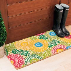 Flower Burst Door Mat