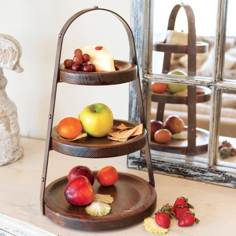 French Oak Tiered Server