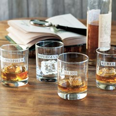 Founding Fathers Double Old Fashioned Glasses