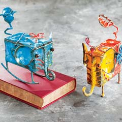 Artisan Crafted Elephant Music Boxes