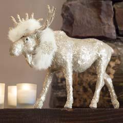 Wintertide Glittering Moose