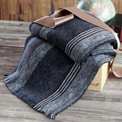 Asher Striped Wool Scarf