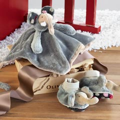 Elephant Lovie & Booties Set