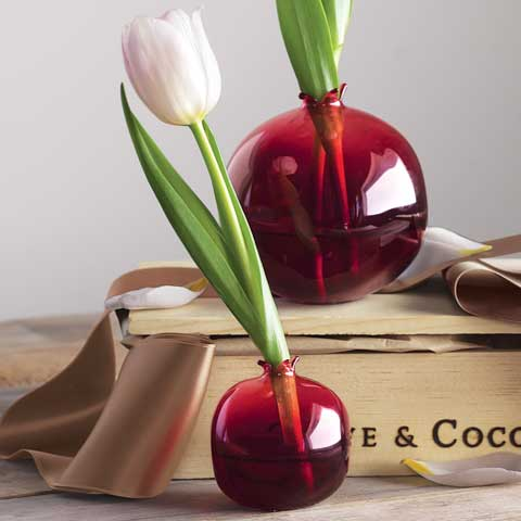 Ruby Pomegranate Vases All Gifts Olive Cocoa