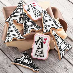 Je T'aime Frosted Cookies