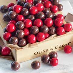 Dark Chocolate & Cherry Malted Milk Balls
