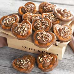 Chocolate Caramel Turtle Pretzels
