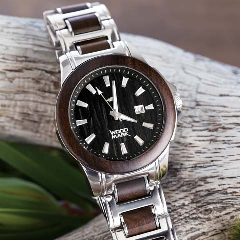 Stratford Wood & Steel Watch