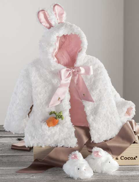 Sweet Bunny Swing Coat & Slippers