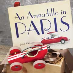 An Armadillo In Paris Book & Toy Car