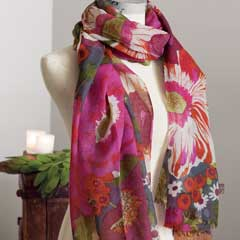 Zinnia Bloom Scarf
