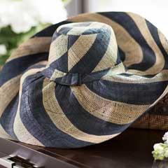 Audrey Striped Sun Hat