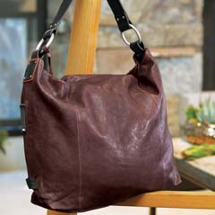 Merlot Italian Leather Hobo