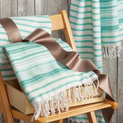 Aqua Turkish Beach Towel Duo