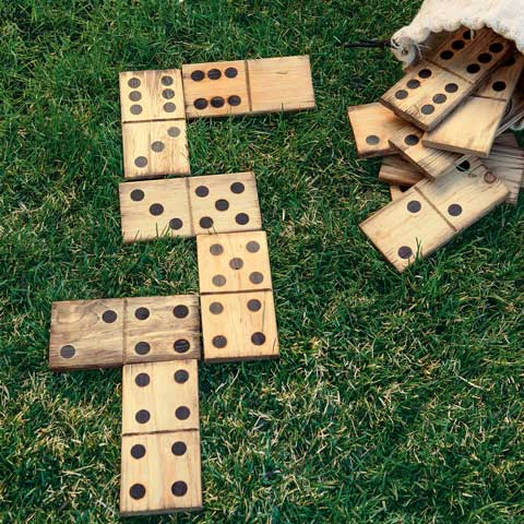 Rustic Lawn Dominoes