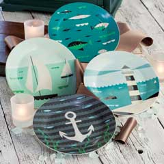 Seaside Appetizer Plates