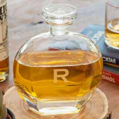 Etched Monogram Decanter