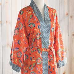 Persimmon Flower Kimono