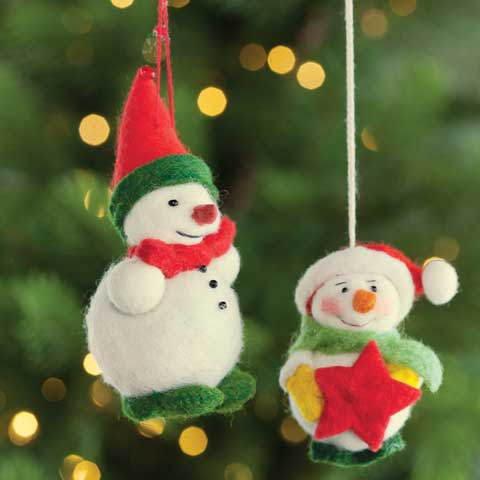 Felted Snowloves Ornaments