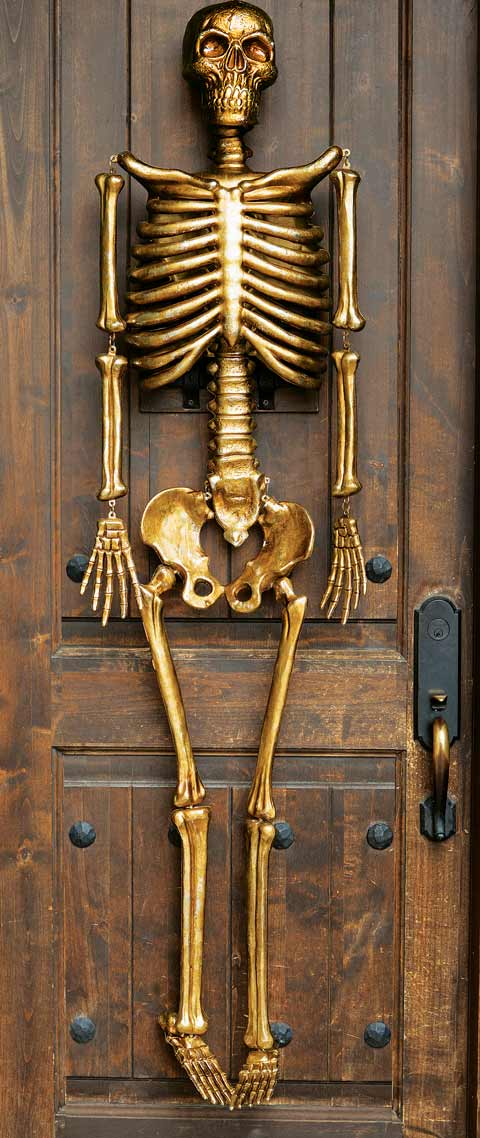 Haunted Manor Gilded Skeleton