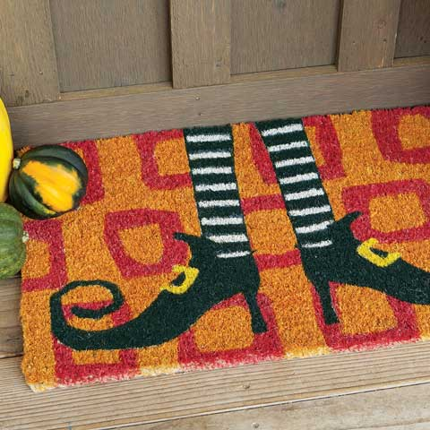 Witch's Legs Door Mat