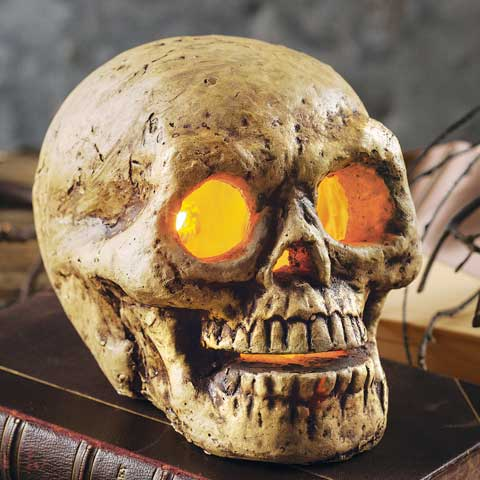 Glowing Lit Skull