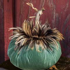 Feathered Velvet Pumpkin