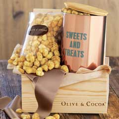 Puffed Caramel Popcorn & Treat Tin
