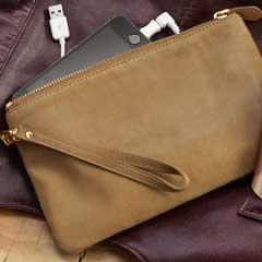 Hayden Leather Charging Clutch