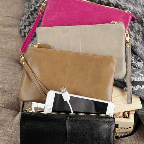 Hayden Leather Charging Clutch