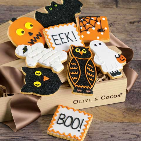 Spooky Frosted Cookies