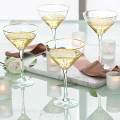 Gatsby Gilded Champagne Coupes