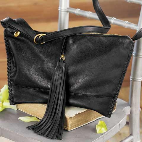 Noir Tasseled Shoulder Bag