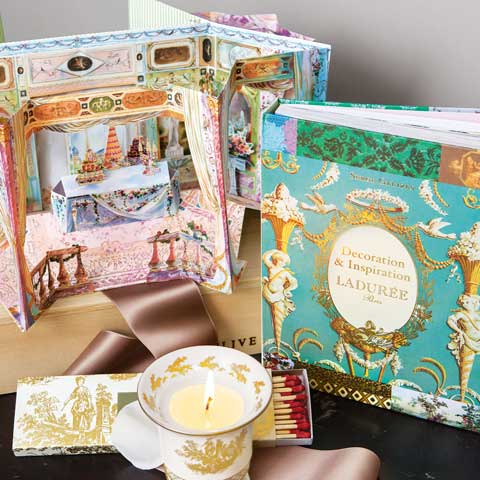 Maison ladur e book french candle set all gifts olive for Laduree christmas