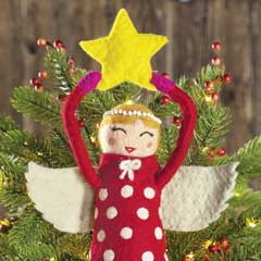 Felted Angel Tree Topper