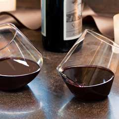Tipsy Spin Crystal Wine Glasses