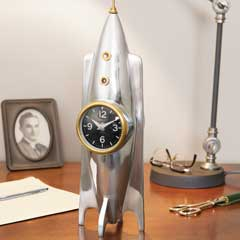 Vintage Rocket Ship Clock