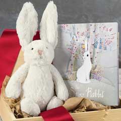 The Snow Rabbit Book & Bunny