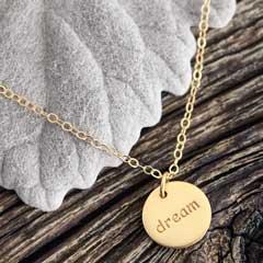 """Dream"" Circle Necklace"
